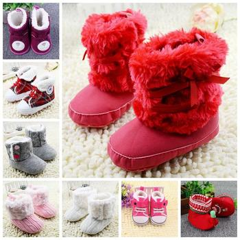 2016 Warm Newborn Boots Stylish Design Soft Sole Infant Shoes Lovely Exterior Comfortable Baby Shoes