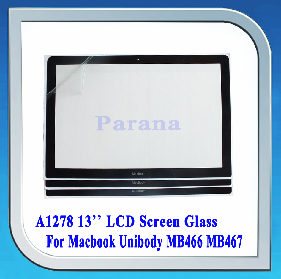 New 13'' LCD Screen Glass For Apple MacBook Front Glass Bezel A1278 MB466 MB467 2008(China (Mainland))
