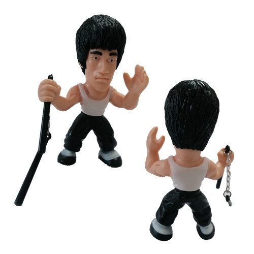 BRUCE LEE figure TEMPLE of KUNG FU toy with NUNCHUKS enter the dragon game death(China (Mainland))