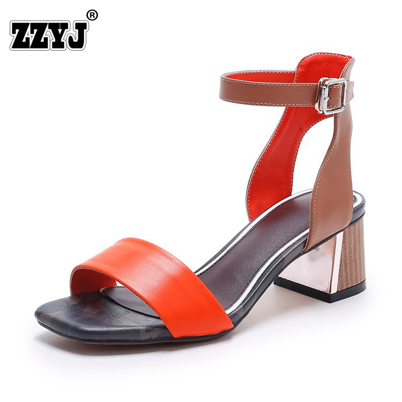 Camouflage Genuine Leather sandals new fashion woman Wrestling Shi Luoma color stitching shoes with open-toed metal buckle white(China (Mainland))