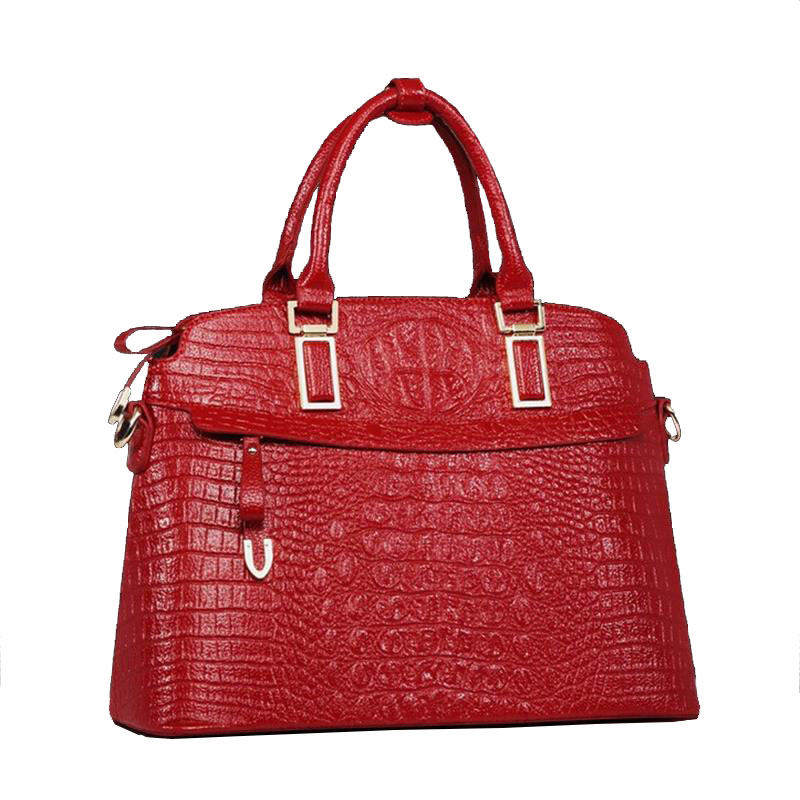 Hot!New arrival Women Bag Genuine Leather bag luxury Women messenger bag Crocodile Handbags Casual Vintage Tote Bags Large size(China (Mainland))
