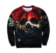 Young men and women sweatshirts autumn winter popular personality printing 3D sweatshirt(China (Mainland))