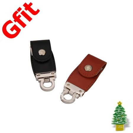 Free shipping: 50pcs/lot 4GB leather USB flash drive(Hong Kong)
