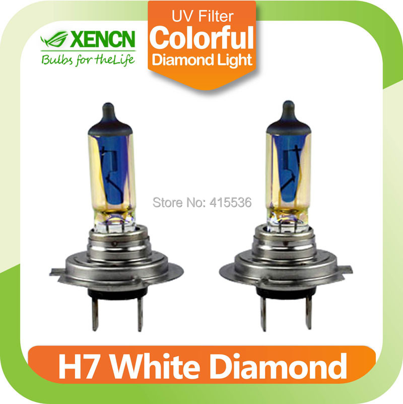 New XENCN H7 PX26d Emark colorful 12V 65W White Diamond Light Colorful Car Bulbs Halogen Headlights Auto Lamp Free Shipping(China (Mainland))