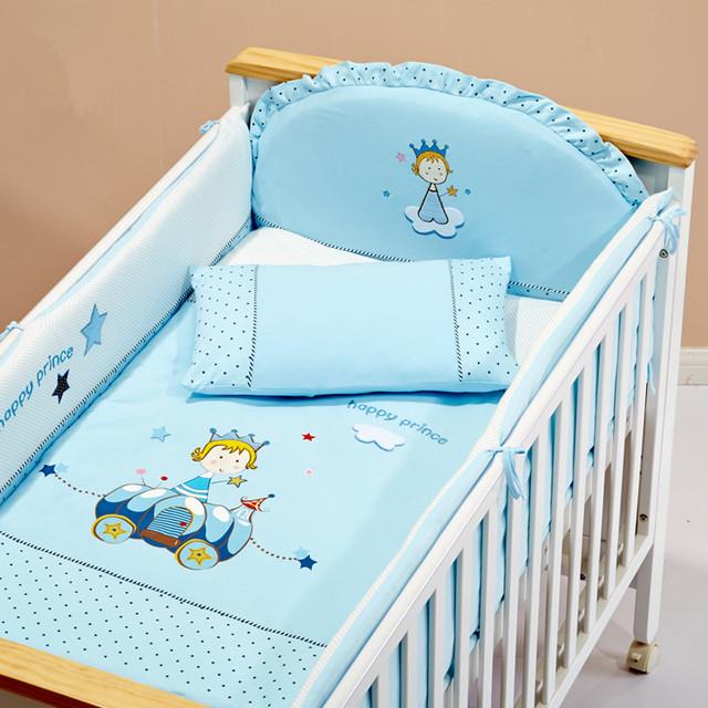 Лучший подарок для ребенка 9 шт. постельного белья 100% хлопок съемный кроватки бампер ...