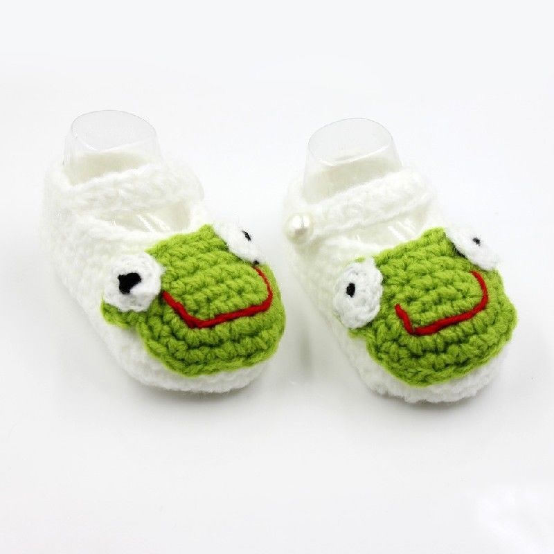 Handmade Baby Newborn Infant Crochet Knit Socks Casual Shoes Prewalker White New New without box(China (Mainland))