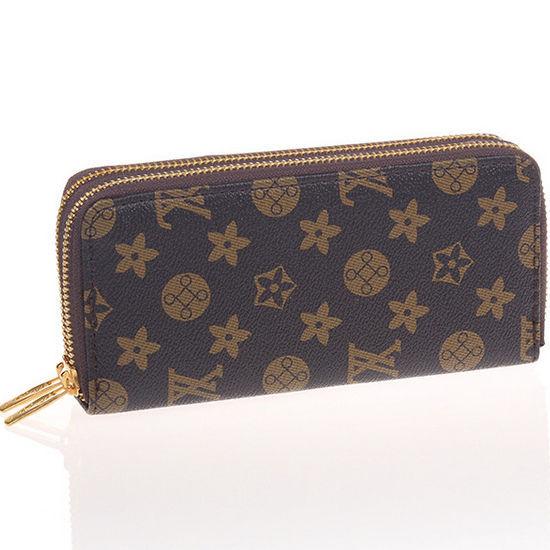 Women Double Zipper Leather Long Wallet Ladies Men Brand Designer Luxury Purse Walet Clutch Wristlet Portefeuille Femme gw0149(China (Mainland))