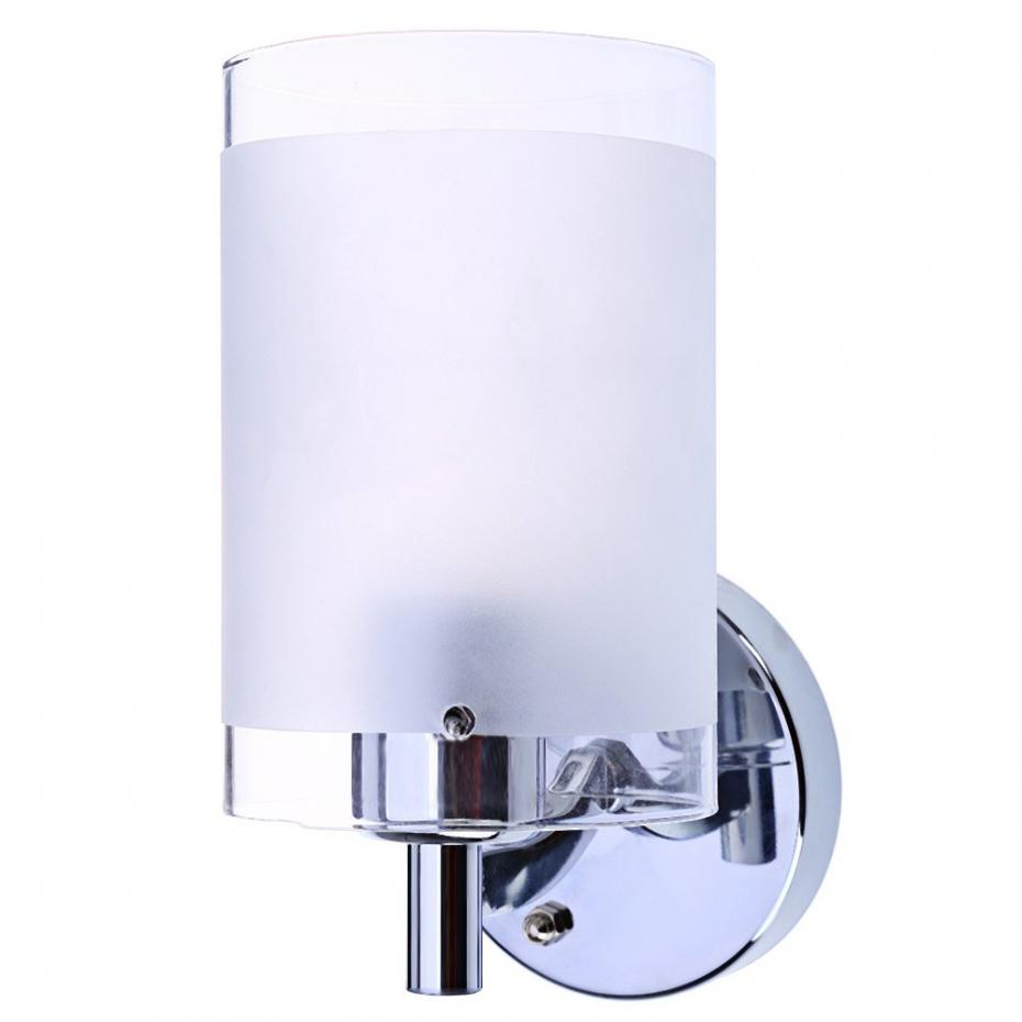Mordern Chinese Wall Lamp Single Head Bedroom Wall Light with White Polished Glass Shade ...