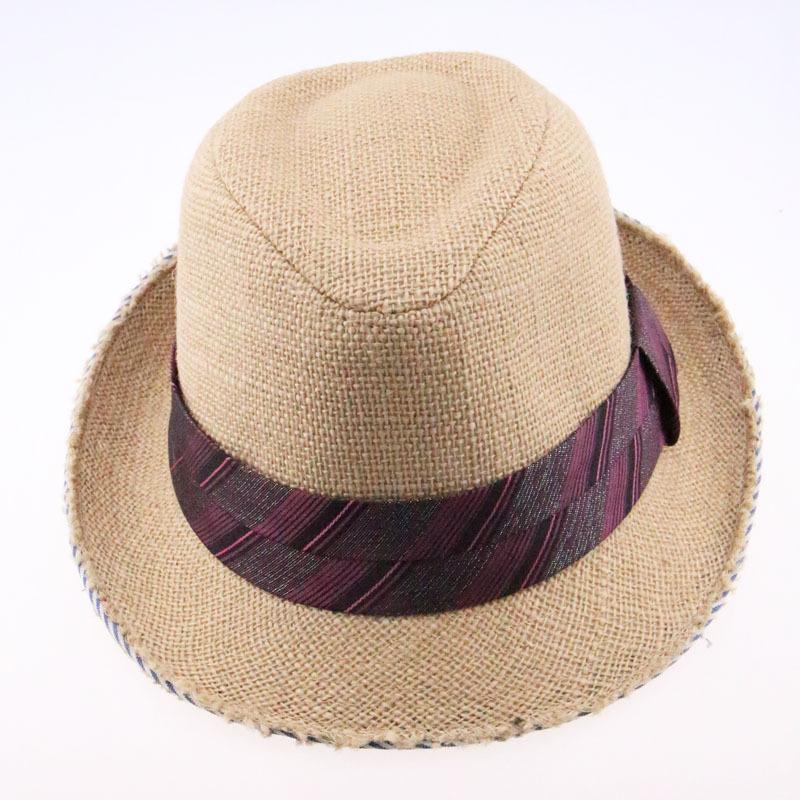 2015 Men Women Chapeu Panama with Striped Ribbon Camel Summer Autumn Paper Straw Sun Cowboy Hat(China (Mainland))