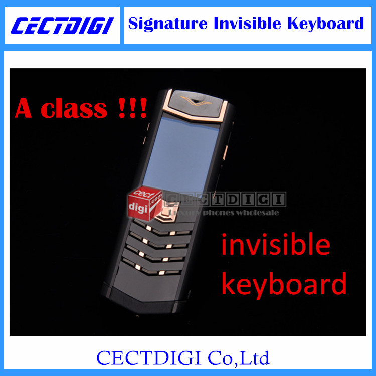 Luxury A class signature s Invisible keyboard Luxury cell phone Hidden keyboard signature Genuine Leather phone VIP phone(China (Mainland))