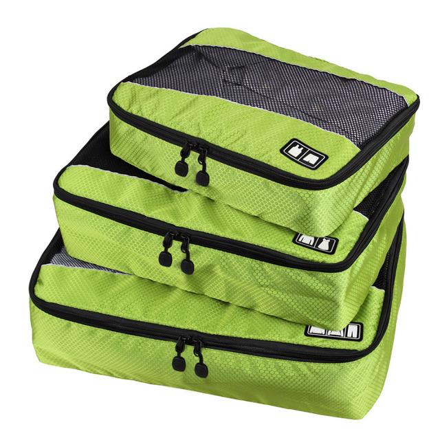 3 шт./компл. мужская нейлон упаковка кубики для одежды легкий багаж дорожные сумки ...