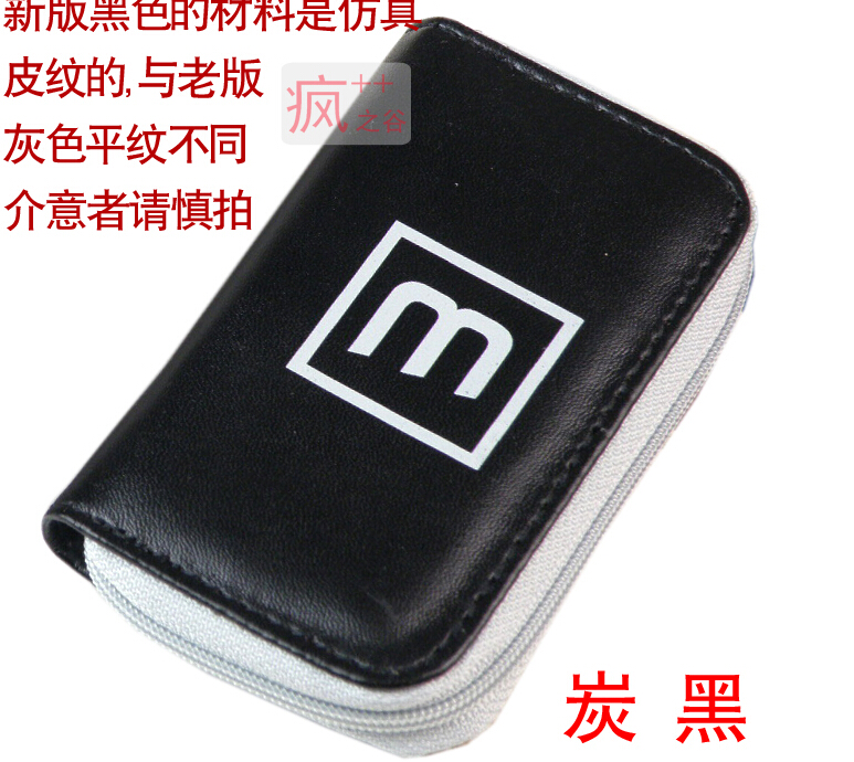 Black 22 Slots Memory Card Case Storage Carrying Pouch Holder Wallet TF CF micro SD Flash Card Case around Free Shipping(China (Mainland))