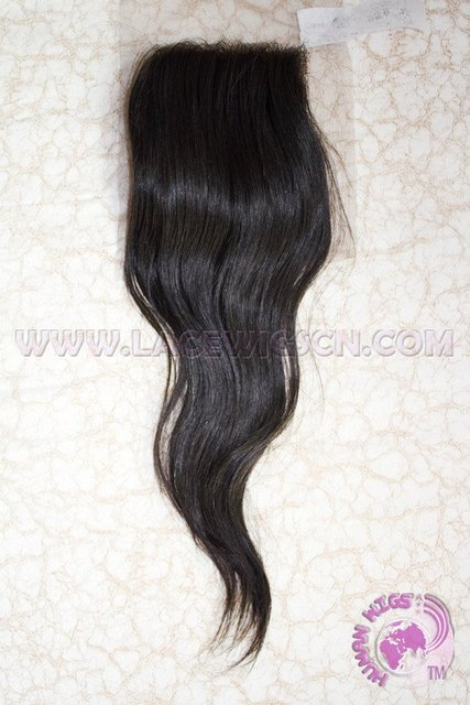 "wholsale TOP CLOSURE Brazilian virgin hair natural color  natural straight 4""x4"""