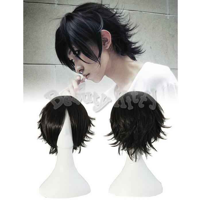 Straight Wigs Death Note L  L Death Note Cosplay Wig