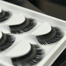 5pairs/lot thick false eyelashes long curly fake eyelashes plastic black terrier cilios posticos natural eye lashes maquillaje(China (Mainland))