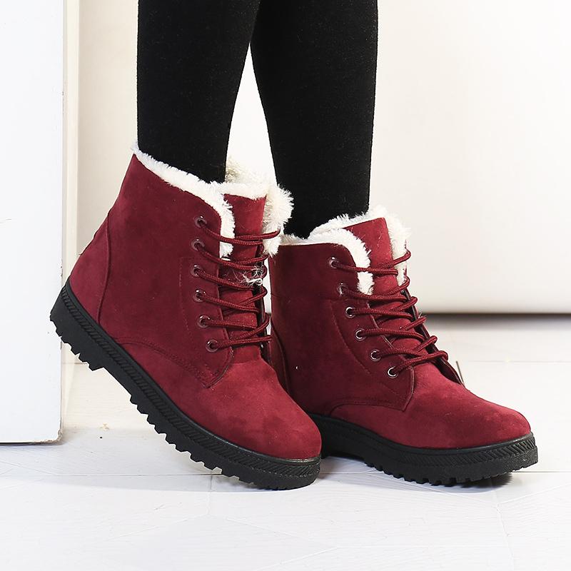 Snow boots winter ankle boots women shoes plus velvet shoes botas femininas 2015 hot platform winter boots fashion shoes black