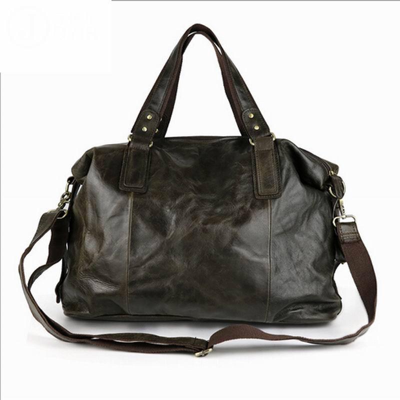 High Quality Vintage First Layer 100% Genuine Leather Men Messenger Bags Handbag crossbody bag men's shoulder bags travel bag