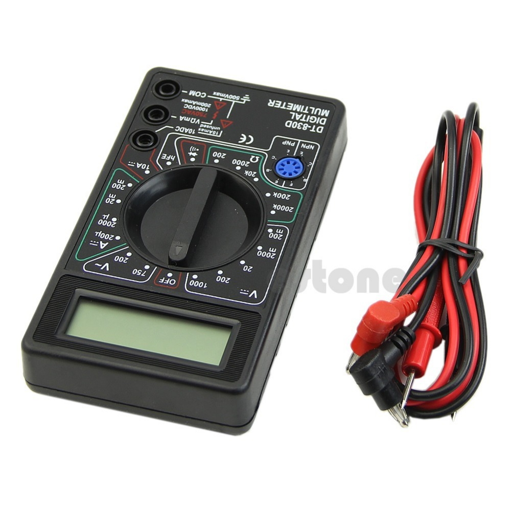 F85 Free Shipping Digital Multimeter with Buzzer Voltage Ampere Meter Test Probe DC AC LCD New(China (Mainland))