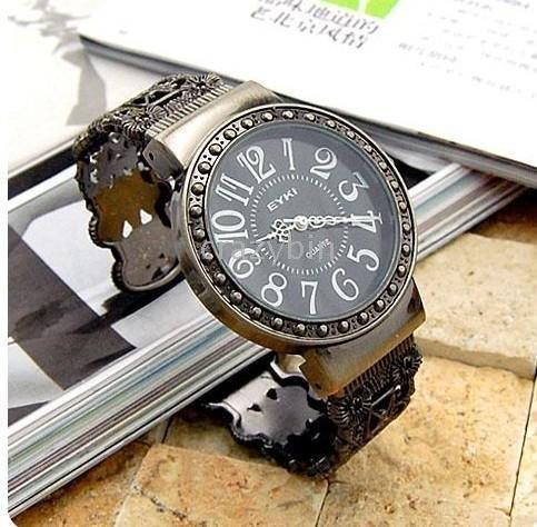 -wholesale fashion watch/Free shipping - 10 pcsAncient personality hollow circle bracelet watch