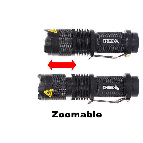 Гаджет  high-quality Mini Black CREE 2000LM Waterproof LED Flashlight 3 Modes Zoomable LED Torch penlight free shipping None Свет и освещение
