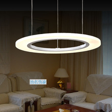 60Cm Modern Circle LED Pendant Lights 36W Living Room Suspension Hanglamp Acrylic Pendant Lighting For Restaurants Lamp Fixtures