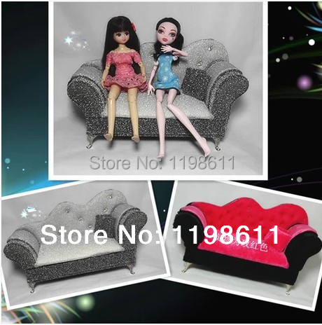 Free Shipping  Best Girls gifts New jewelry box  monster high doll large sofa Doll Furniture doll accessories sofa for barbie <br><br>Aliexpress