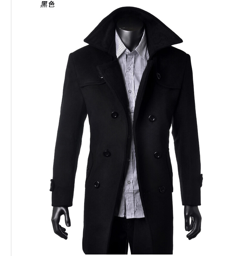 DFCM004, 2015 new Cashmere fall winter Menlong trench coat men,fashional outdoor wool men mens overcoat