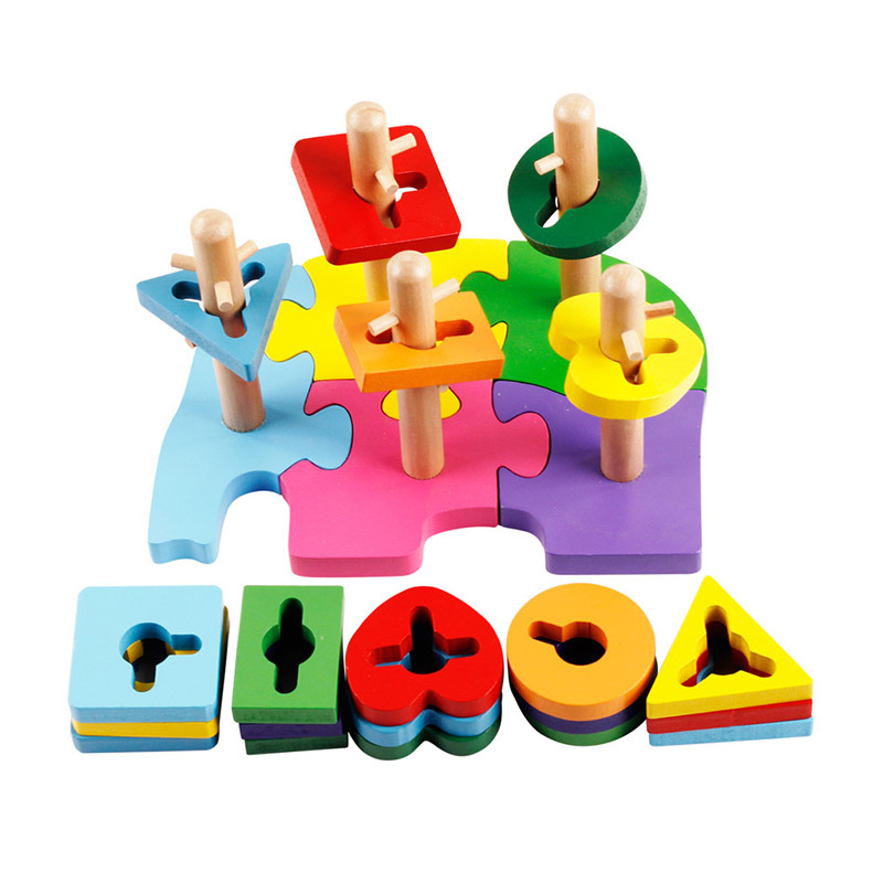 Promotion Baby Children Educational Toys Multicolor Elephant Building Block Toys For Kids Juguetes Educativos DD002(China (Mainland))