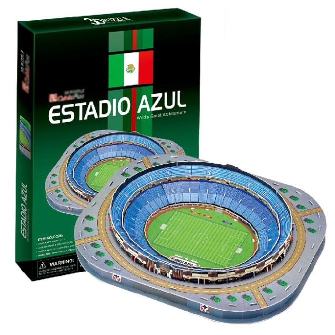 T0474 3D Puzzles ESTADIO AZUL Mexico Azul Golf Course DIY Paper Model Creative gift Children Educational toys hot sale(China (Mainland))