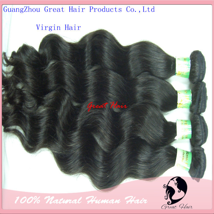 cabelo natural-Free Shipping unprocessed Virgin remy brazilian Hair body wave 3pcs/lot Mix Length 3 .5oz/pc 14inch - 30inch(China (Mainland))