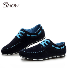 New Promotion fashion men shoes breathable flat shoes casual men's flats sport Boat Shoes Sandy Beach free shipping LS108(China (Mainland))