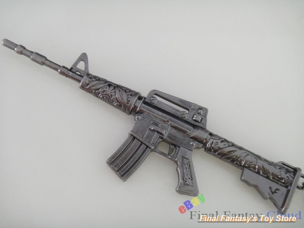 Cross Fire M4A1 Carbine Firearms Strike Metal Gun Model Keychain Pandent T4 free shipping to US toy machine gun cool gifts(China (Mainland))