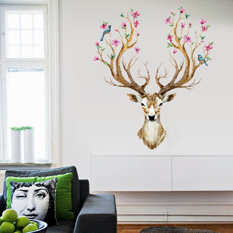 Buy Vintage Sika Deer Spotted Flower Tree