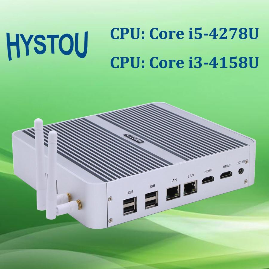 Hystou Barebone System Intel Core i5 4278u WiFi optional Cloud Terminal Mini PC Station with Dual HD+Lan(China (Mainland))