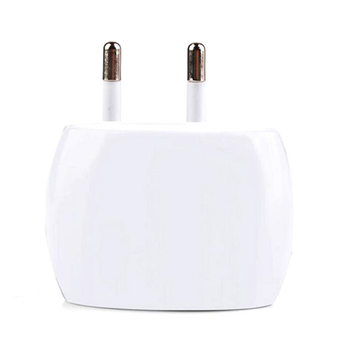 Hot Selling 2A Dual USB Ports Home Wall Travel AC Power Charger Adapter 2 Port EU Plug for Flat Sockets WHITE ST21