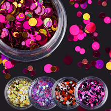 Buy 1 Box Shiny Colorful Nail Sequins Tips Round Shape Nail Glitter Tips 12 Colors Manicure Nail Art Decoration Accessories for $1.32 in AliExpress store