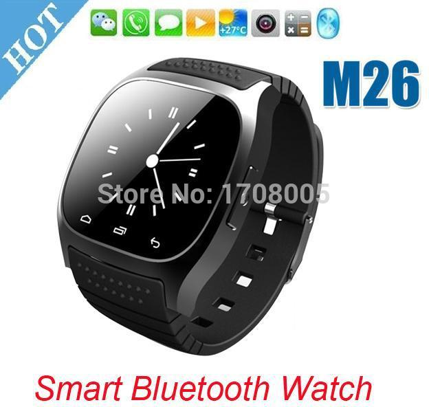 SmartWatch Bluetooth Smart Watch M26 with LED Display / Dial / Alarm / Music Player / Pedometer for Android IOS HTC Mobile Phone(China (Mainland))