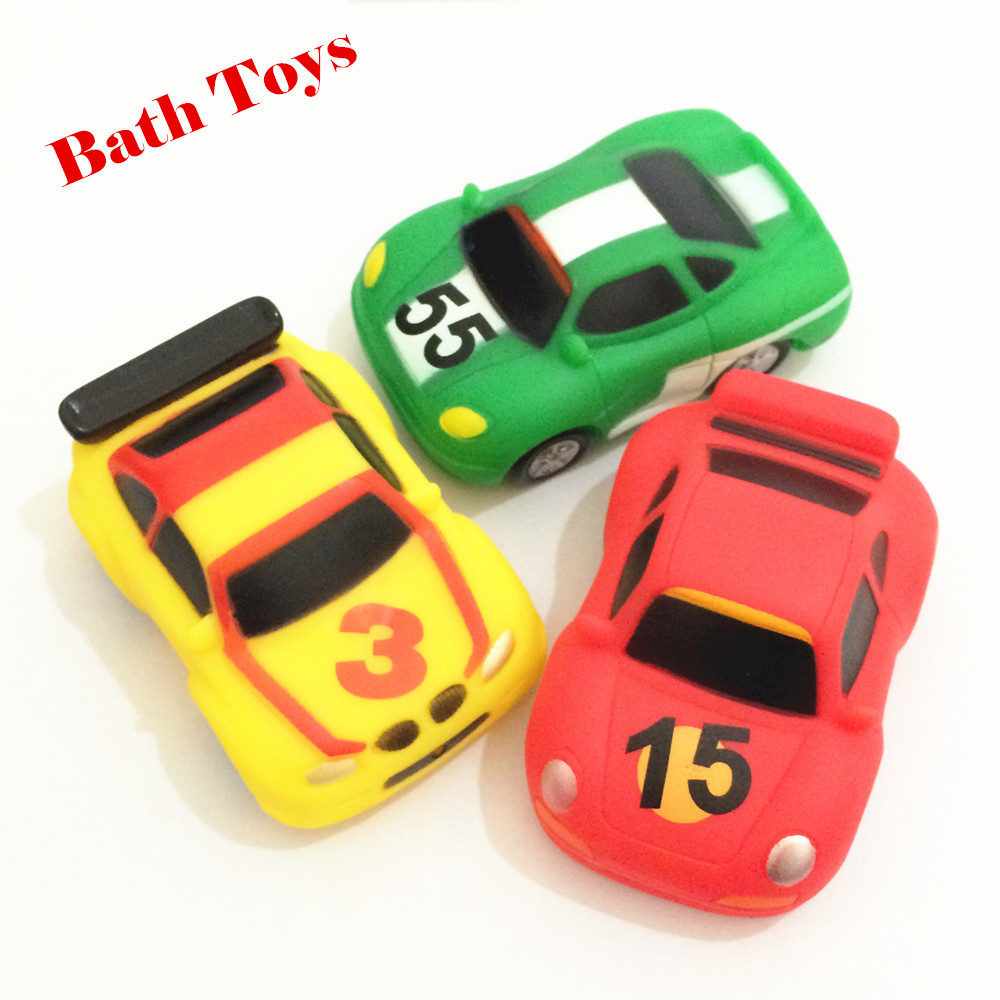 Bath Toys For Boys : Pc car toys for boys soft rubber children