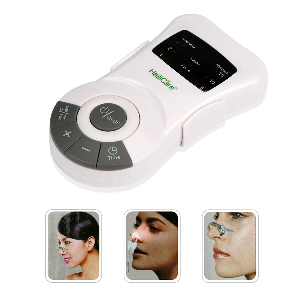 Portable Gift CR-912 Allergy Reliever Low Frequency Laser Rhinitis Rhinitis Therapy Massager Machine Health Monitor and Reliever