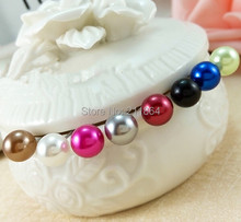 E033 Hot New Wholesale 6 Colors Candy Color 8mm Imitation Pearl Stud Earrings Ball For Women Wedding Cheap Jewelry Accessories(China (Mainland))