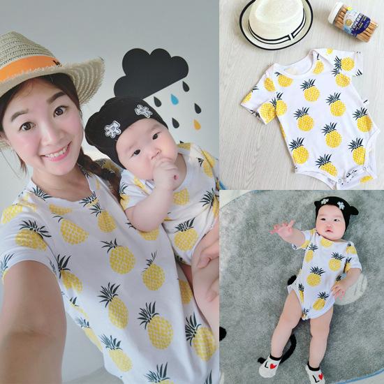 2016 Summer font b Women b font T shirt Fruit Pineapple font b T shirt b