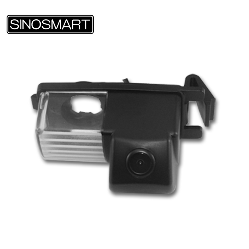 SINOSMART In Stock HD Car Rearview Parking Reverse Backup Camera for Nissan Tiida Livina Geniss GT-R with New Plastic Lampshade(Hong Kong)
