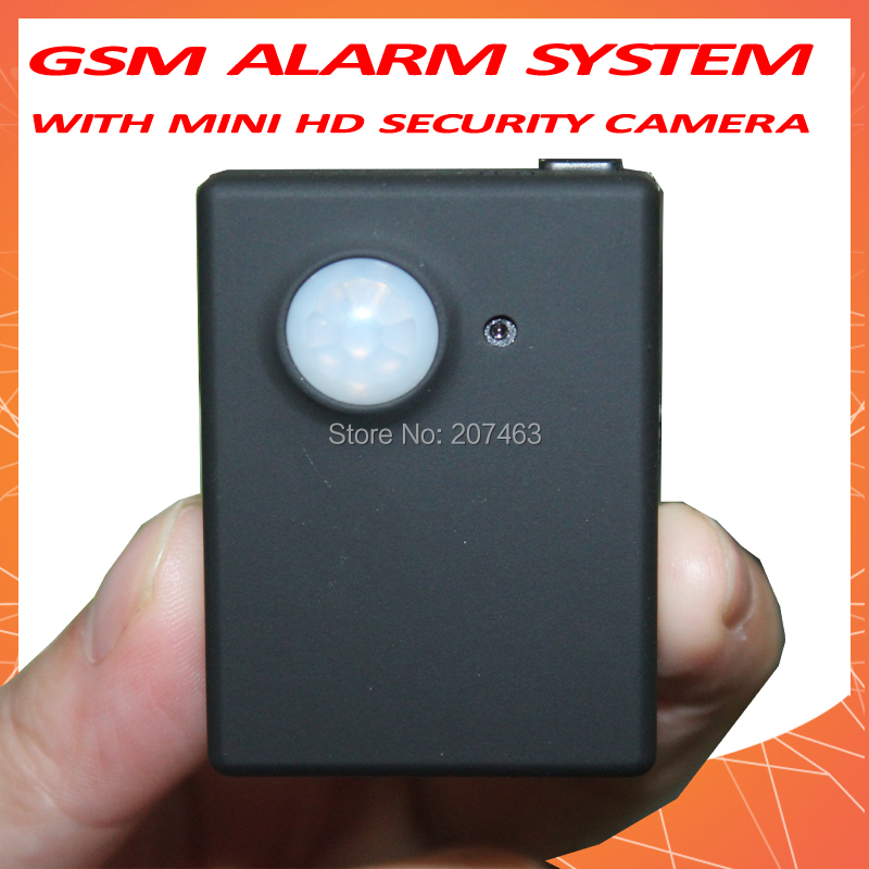 Hidden Mini HD security camera MMS/SMS GSM Alarm system,PIR Video Infrared Sensor,Motion Detection(China (Mainland))