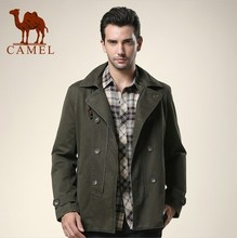 New arrival camel men's clothing 2013 autumn male double breasted trench casual turn-down collar outerwear 120192(China (Mainland))
