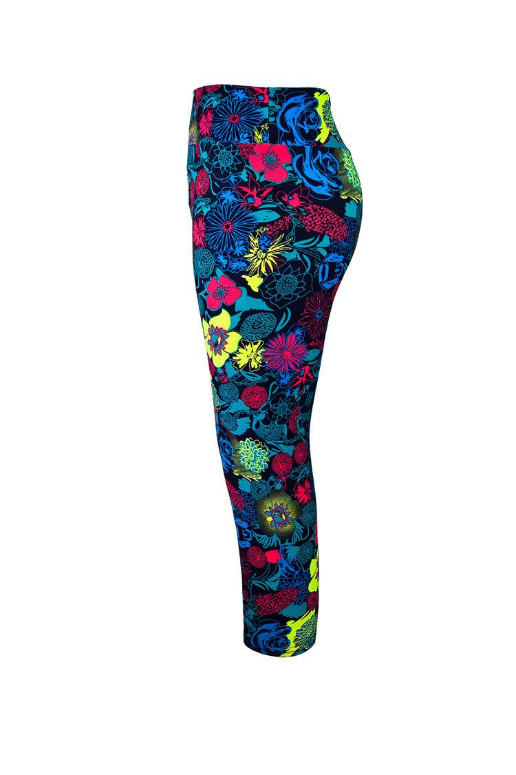 Flower Printed Pants Yoga Pants Red Flower Yoga