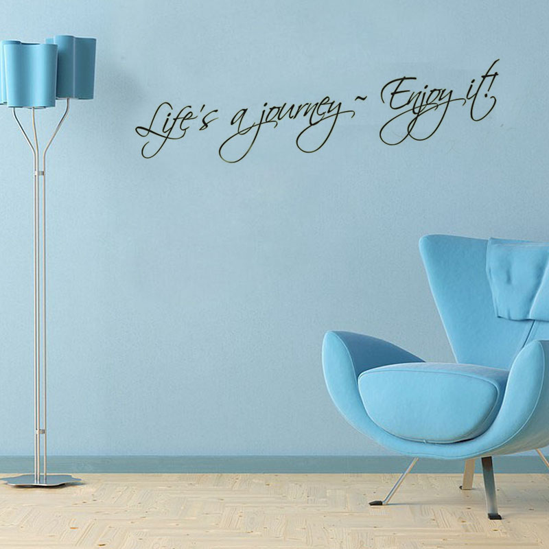 Life'S Journey Enjoy It Art Vinyl Wall Decals Adhesive Removable Stickers On The Wall For The Living Rooms(China (Mainland))