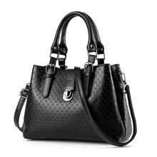 2016 New Fashion Brand Women s Handbag PU leather Casual Totes Embossed Satchel Bag Ladies Luxury