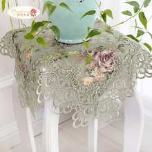 Buy 1 Piece Retro Green Rural Lace Fabric Hollow-out Table Cloth/ Classic Embroidered Tea Table Cloth/ European Rural Tablecloth for $13.94 in AliExpress store