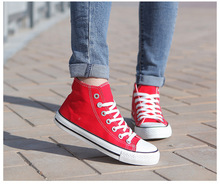 2015 spring and autumn flat bottom shoes lovers high help canvas shoes breathable casual shoes factory