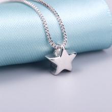 AAA 100% Серебро 925 Ожерелье Блестящие Звезды Ожерелье Стерлингового Серебра Ювелирных изделий Ожерелья & Подвески(China (Mainland))